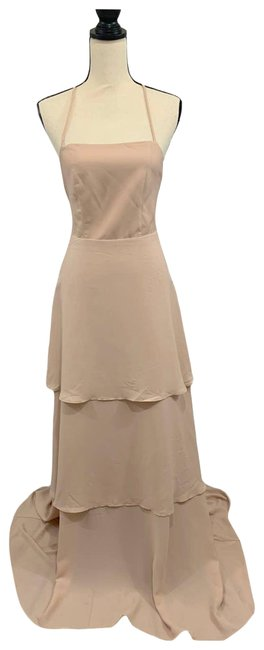 Item - Pink Calypso Ruffle Strappy Tiered Maxi Dusty Blush Long Formal Dress Size 8 (M)