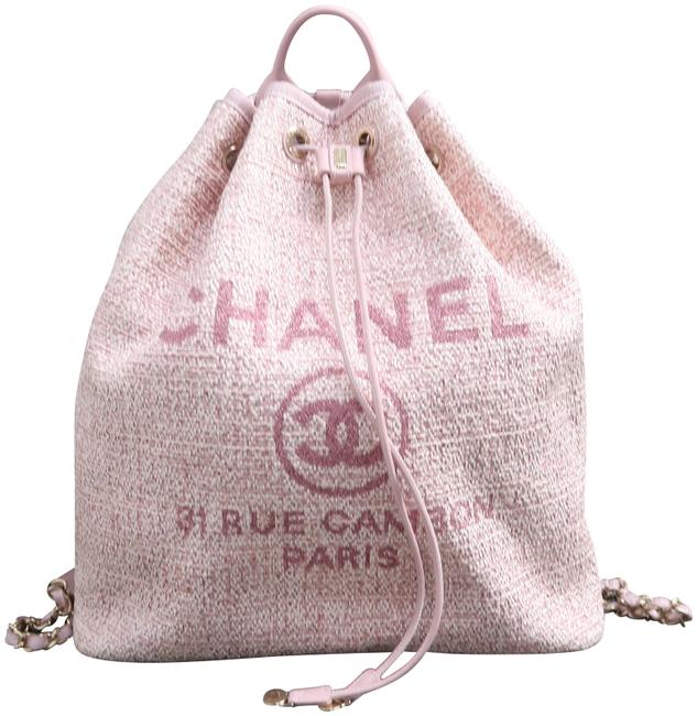 Item - Deauville Bucket Pink Canvas Backpack