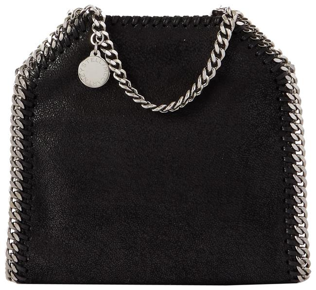 Item - Shoulder Bag The Falabella Tiny Brushed-leather Black Faux Leather Tote
