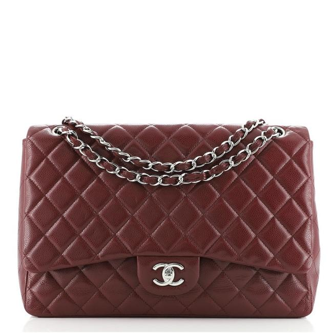 Item - Classic Flap Classic Single Quilted Caviar Maxi Red Leather Cross Body Bag