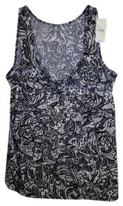 Lane Bryant New W/ Tags Floral 14/16 Top Black & White
