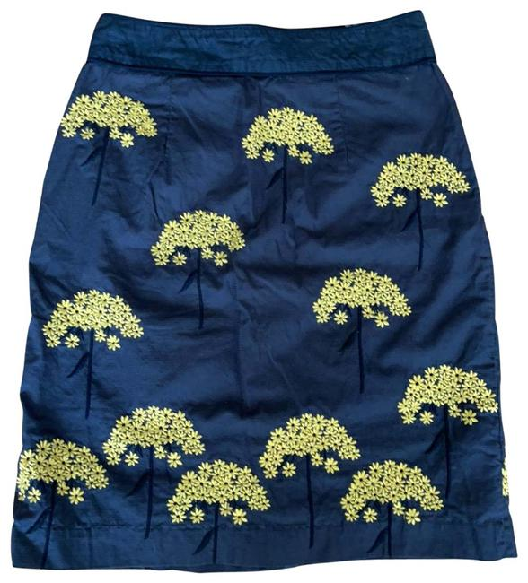 Item - Brown Yellow Anthropologie Pencil Skirt Size 6 (S, 28)