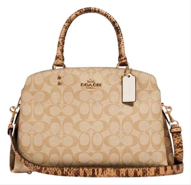 Item - Carryall Lillie In Signature Canvas Multicolor Leather Satchel