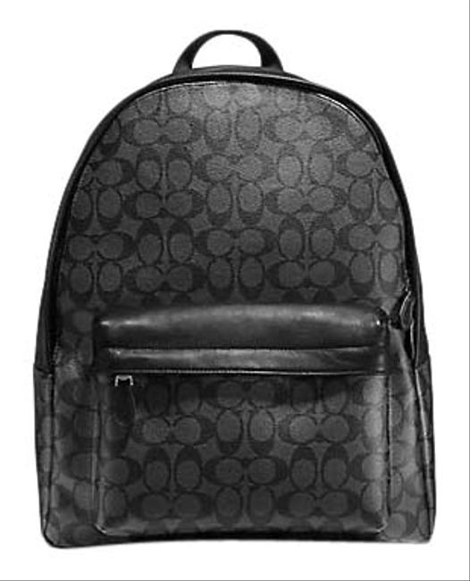 Item - Charles Men's In Signature Canvas (Charcoal/ Black) Calfskin Leather Backpack