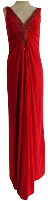 Item - Red Cameron Black Gown Formal Dress Size 6 (S)