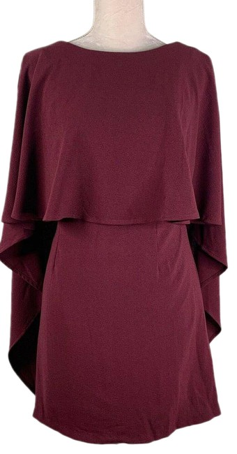 Item - Red Is Yet To Come Burgundy Backless Lined Back Zipper Cocktail Dress Size 10 (M)