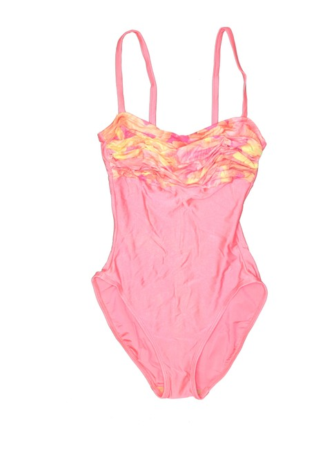Item - Pink Ruched 1piece Swimsuit One-piece Bathing Suit Size 10 (M)
