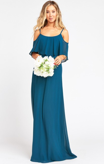 Item - Green Blue Caitlyn Long Casual Maxi Dress Size 4 (S)