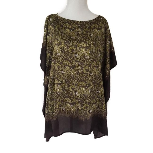 Item - Green Brown Blouse Size 4 (S)