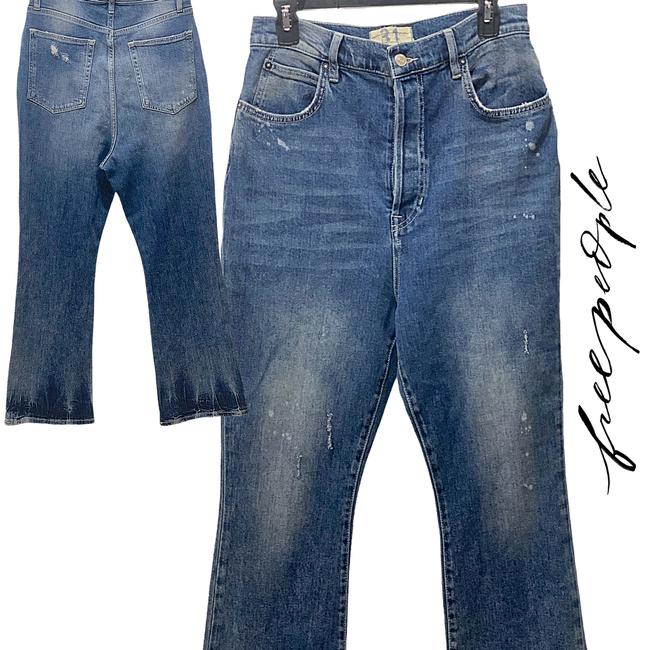 Item - Blue Medium Wash New High-rise Button Fly Boot Cut Jeans Size 31 (6, M)