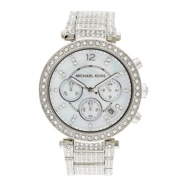 Item - Silver Mk Parker Mop Dial Crystals Ss Watch