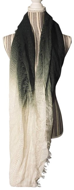 Item - Ombre Green White Scarf/Wrap