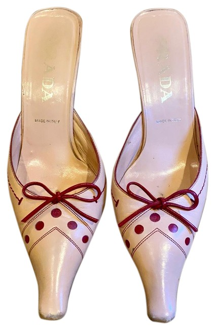 Item - Pink/Red Two Tone Leather Perfect Combinat Mules/Slides Size US 8 Regular (M, B)