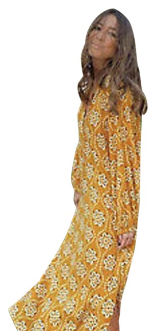 Item - Curry Printed Midi Mid-length Casual Maxi Dress Size 12 (L)