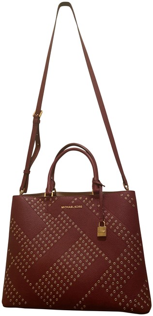 Item - W W/ Gold Detailing Maroon Leather Tote