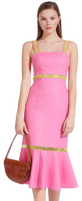 Item - Pink Orchid + Lime Lychee Linen Cocktail Dress Size 8 (M)