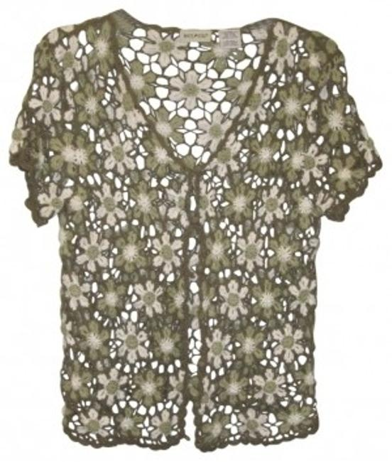 Preload https://img-static.tradesy.com/item/29554/white-stag-green-and-crocheted-sweater-cardigan-size-16-xl-plus-0x-0-0-650-650.jpg