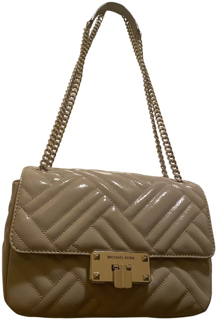 Item - Silver Patent Leather Cross Body Bag