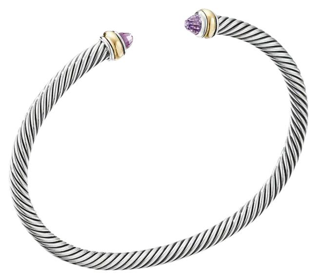 Item - Cable Classic with Amethyst and 14k Gold 5mm Bracelet