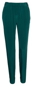 INTERMIX Track Jogger Jogging Trackpant Green Hunter Elastic Capri Capris Exclusive Designer Likenew Fashion Style Baggy Pants Hunter Green