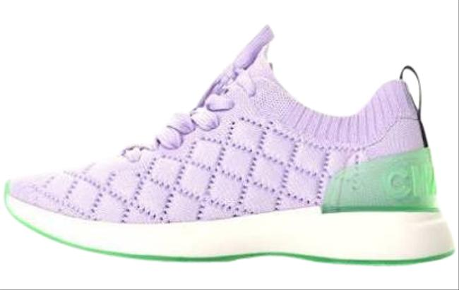 Item - Lavender Mixed Media Quilted Sneaker Flats Size EU 37.5 (Approx. US 7.5) Regular (M, B)