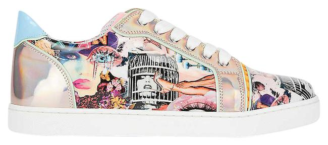 Item - Multicolor Vieira Flat Oh Xtian Print Leather Sneakers Size EU 39.5 (Approx. US 9.5) Regular (M, B)