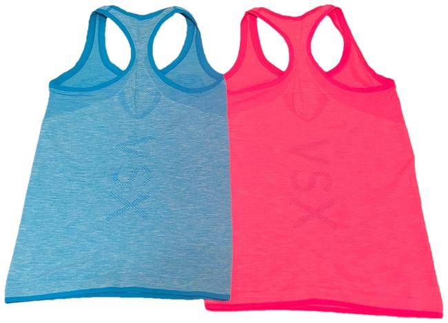 Item - Pink and Blue Seamless Racer Back Set Of 2 Activewear Top Size 4 (S)