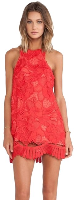 Item - Red Caspian Lace Cocktail Dress Size 4 (S)