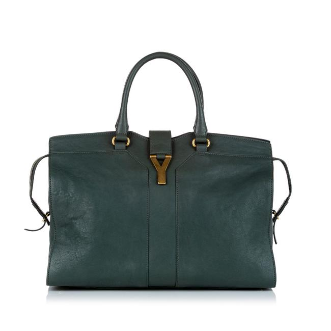 Item - Bag Cabas ChYc Green Leather Tote