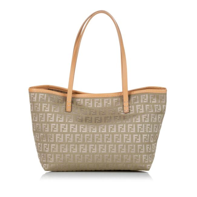 Item - Bag Zucchino Canvas Brown Leather Tote