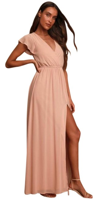 Item - Pink Lost In The Moment In Blush Long Casual Maxi Dress Size 12 (L)