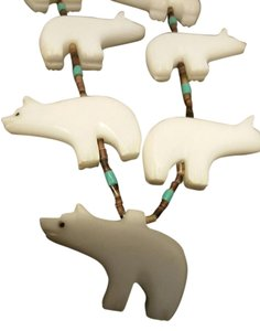 Native American Polar Bear necklace