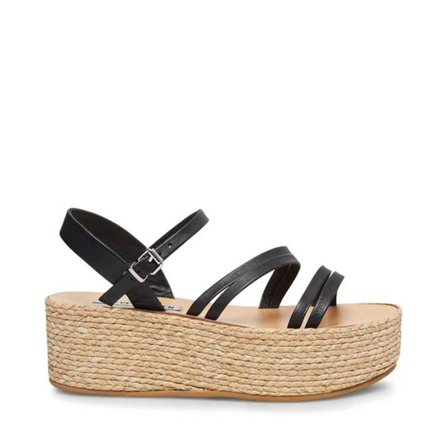 Item - Black Anabella Strappy Sandals Platforms Size US 8.5 Narrow (Aa, N)