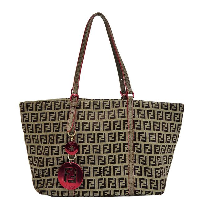 Item - Shopping Zucca Pattern Zucchino 8bh214 Brown Canvas Tote