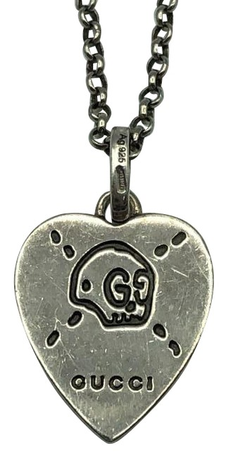 Item - Silver Ghost Heart Ag925 Necklace