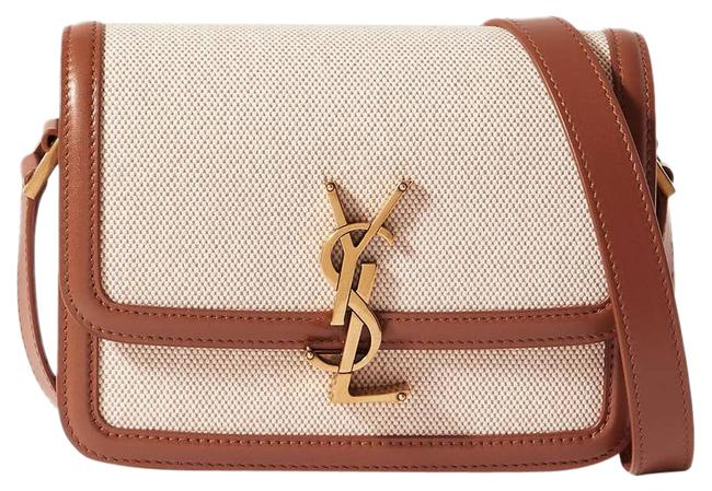 Item - Shoulder Solferino Small Cotton-canvas and Leather Beige Cross Body Bag