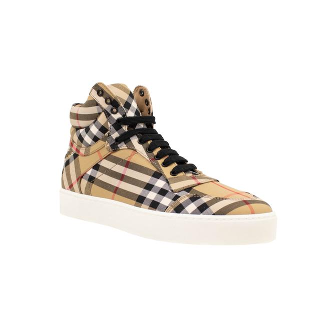 Item - Yellow Vintage Check High-top Sneakers Size US 7 Regular (M, B)
