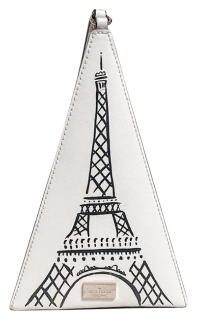 Item - Merrion Square Eiffel Tower Triangle White Black Clutch