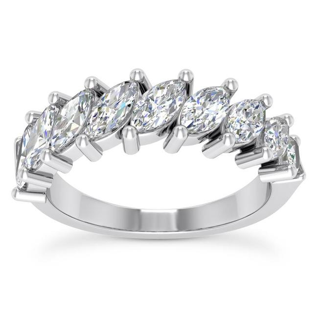 Item - 18k White Gold 1.50ct Ladies Marquise Cut Band In Ring