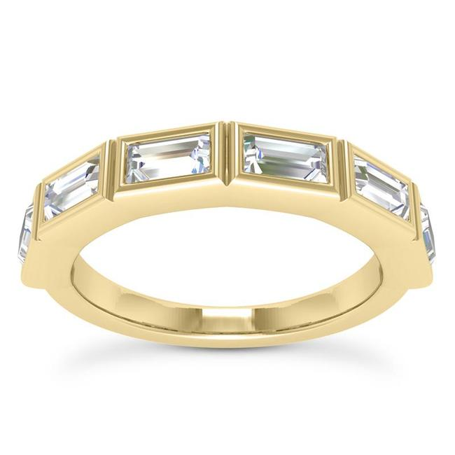 Item - 18k Yellow Gold 0.75ct Ladies Baguette Shaped Band In Channel Setting Ring