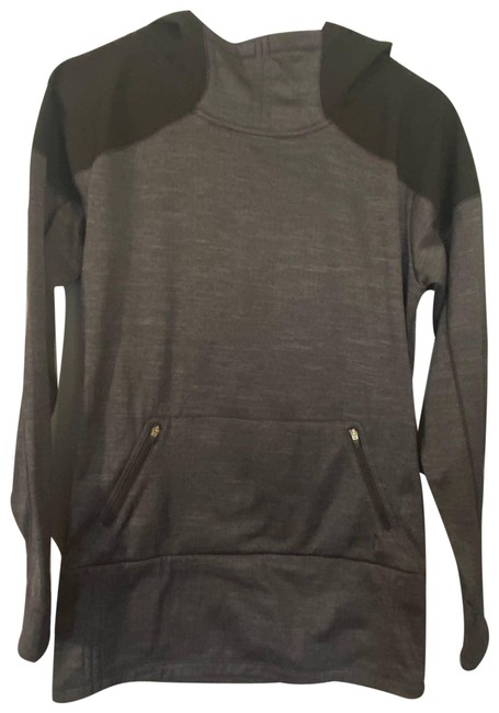 Item - Black Hooded Athletic Activewear Top Size 6 (S)