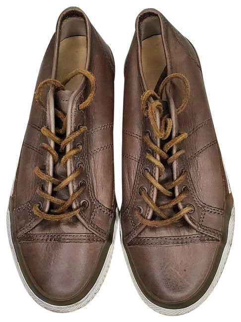 Item - Brown Greene Low Top Leather Lace Up Casual Sneakers Size US 6.5 Regular (M, B)