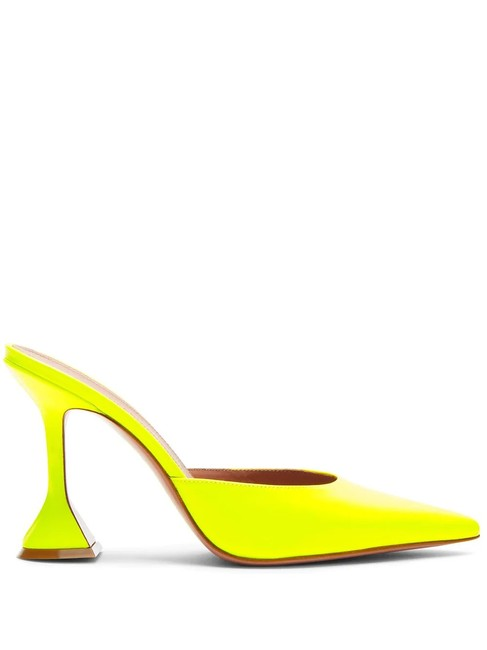 Item - Fluorescent Yellow Fiona 95mm Pointed-toe Mules/Slides Size EU 38.5 (Approx. US 8.5) Regular (M, B)