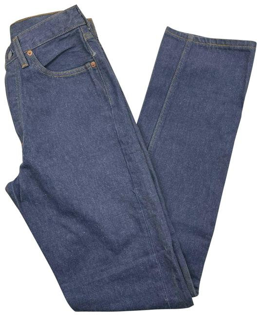Item - Blue Medium Wash Fit Made In Usa Denim Button Fly 6501-0143 Straight Leg Jeans Size 27 (4, S)