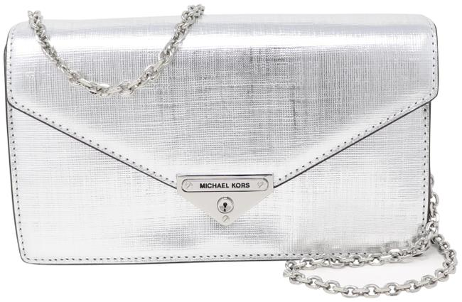 Item - Grace Convertible Silver Leather Cross Body Bag