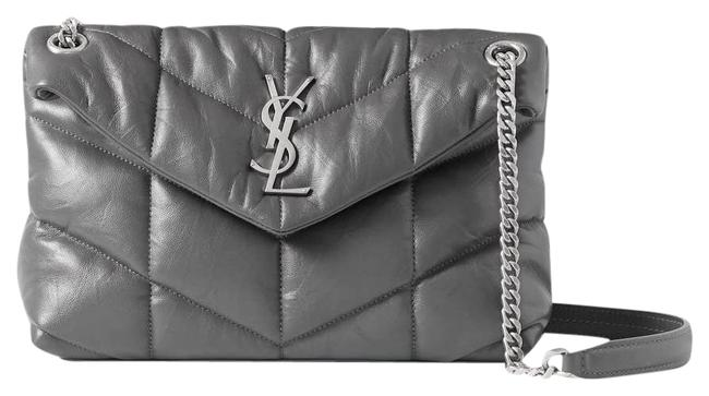 Item - Monogram Loulou Shoulder Puffer Small Quilted Leather Dark Gray Cross Body Bag