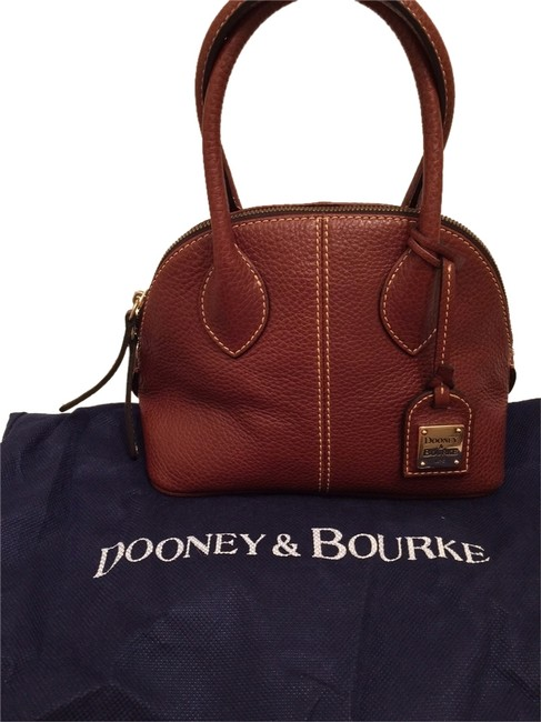 Dooney & Bourke Baby Domed Style No. Cb531 Brown Leather Satchel Dooney & Bourke Baby Domed Style No. Cb531 Brown Leather Satchel Image 1