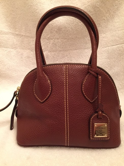 Dooney & Bourke Baby Domed Style No. Cb531 Brown Leather Satchel Dooney & Bourke Baby Domed Style No. Cb531 Brown Leather Satchel Image 4