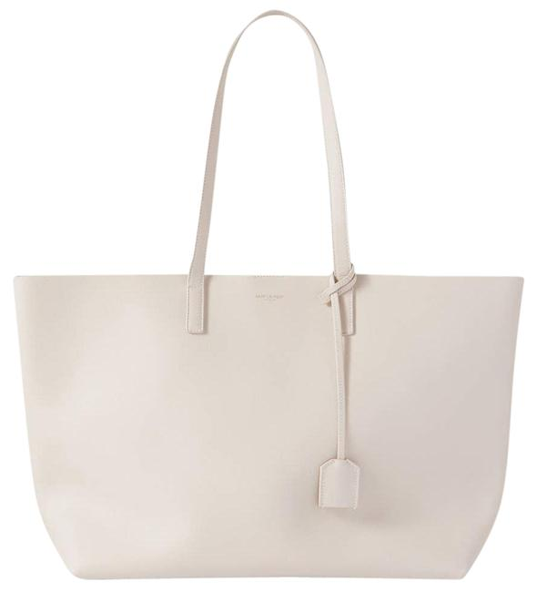 Item - Leather Tote Off-white Cross Body Bag