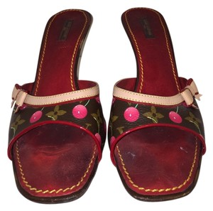 Louis Vuitton Brown/red Sandals